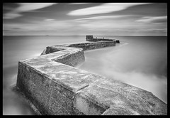 St Monans (youngboo) Tags: st monans long exposure black white fife water sea