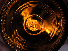 Bottoms-Up (Caroline.32) Tags: bottomsup macromondays macro beer beerbottle bottom glass circle backlit canon canonpowershotsx530 bowercloseuplens4 powershot