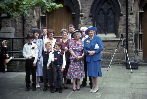 Family gathering, St Paul's Church, Oswaldtwistle