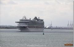 Ventura leaving Southampton for Naples, June 3rd 2017 a (Bristol RE) Tags: ventura solent southampton imo liner cruiseliner po 9333175