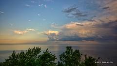 Morning Clouds (mswan777) Tags: cloud sky water shore park morning lake michigan st joseph scenic sun light nikon d5100 sigma 1020mm outdoor nature seascape tree landscape horizon