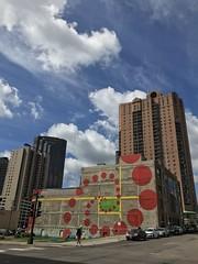 IMG_2980 (mlmck) Tags: saintpaul mural art phi nautilus summer ciel downtownsaintpaul elipse goldenratio orange green yellow blue