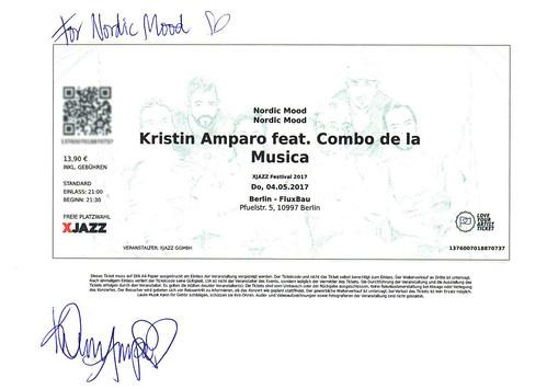 2017 - XJAZZ FESTIVAL (GER) (1) -  Kristin Amparo (SWE) - TKT