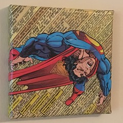 Superman Canvas Project (Completed) (heath_bar) Tags: decoupage comic superman