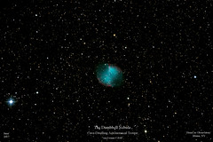 Dumbbell Nebula (homcavobservatory) Tags: homcav observatory dumbbell nebula m27 planetary criterion reflector canon 700d dslr losmandy g11 orion starshoot autoguider phd astronomy astrophotography