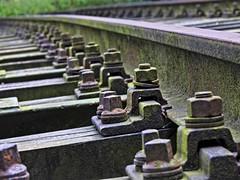 Silent track. Stilles Gleis. (Wallus2010) Tags: gleis schienen rost schrauben schwellen train eisenbahn brücke