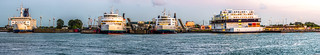 Panorama Puttgarden Ferry Port