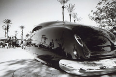 Sigma SA-7 Mooneyes X-Mas 49 Hudson (▓▓▒▒░░) Tags: vintage retro classic 35mm analog film camera mechanical design art style sigma japan japanese bw black white slr moon mooneyes hotrod drag race pinup irwindale racetrack xmas christmas show custom car auto truck automobile crome pinstripe rockabilly