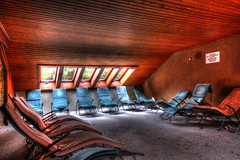 Relax ! (urban requiem) Tags: chaises chairs longues chaiseslongues urbex urban exploration urbanexplorationurban requiem verlaten verlassen lost old decay derelict hdr 600d 816 sigma allemagne deutschland germany hotel muscle club muscleclubhotel