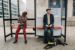 London, England (f.d. walker) Tags: britain england europe greatbritain london uk united kingdom streetphotography street candid candidphotography color clothes colorphotography contrast city man men hat dog