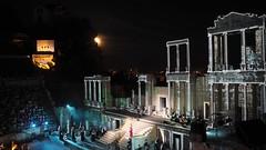 Opera in the open (borisvasilev) Tags: opera music night live livemusic bulgaria bulgarian architecture theatre antique plovdiv plovediv ancient modern artforms art moin light travel olympus sky orpheus paganini virtuoso borissnima