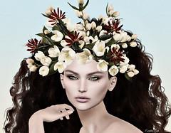 Philadelphus (Eurídice Qork) Tags: model fashion face fantasy flowers headpiece head chic classic crown portrait photoshop ps people