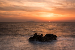 Mediterranean sunset (ola_er) Tags: sunset mediterranean travel holiday italy coast sea seascape long exposure red sky nikonflickrawardgold