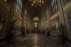 NH0A7104s (michael.soukup) Tags: westminster palace london uk unitedkingdom england houseofcommons thames gothic architecture stainedglass hall royalgallery fresco statue