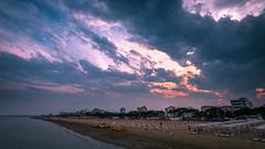 Sunset - Lignano Sabbiadoro, Italy - Travel photography (Giuseppe Milo (www.pixael.com)) Tags: beach landscape lignanosabbiadoro travel sky clouds italy seascape lignano weather sunset sea friuliveneziagiulia it onsale