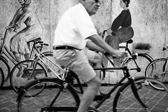 Ravenna, Italy (ale neri) Tags: street bw aleneri bike bicycle motion ravenna romagna italy italia italian streetphotography blackandwhite people alessandroneri