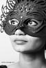 Lady In Mask (Achira Liyanage) Tags: mask portrait lady studiolights canon srilanka achira photoshoot black white