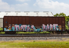 (o texano) Tags: houston texas graffiti trains freights bench benching natas bart
