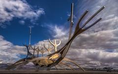 Solfar - Sonnenfahrt (ellen-ow) Tags: island reykjavik solfar sonnenfahrt kunst kunstwerk skulptur wolken clouds thesunvoyager nikond5 ellenow reise travel internationgeographic