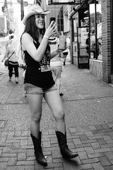 Bride to be (marcelo_valente) Tags: photo bride celular street streetphotography boots fujifilm hat country photographer monochrome nashville iphone mobile fuji fujixe2 cowgirl tennessee blackandwhite xe2 cowboy
