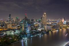 ละเอียดอ่อน. (_RossMartin) Tags: bangkok backpack skybar 360 skyline night long exposure city river building skyscraper