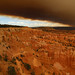 Sunset Point under smokey skies from Bryan Head Fire, Bryce Canyon NP