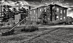 where have all the children gone?... (BillsExplorations) Tags: school abandoned abandonedschool decay ruraldecay forgotten shuttered closed consolidation small old darcybenton elwood iowa abandonediowa education rural country smalltown monochrome blackandwhite monochromemonday