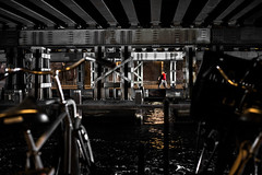 Water flows under the bridges (tomabenz) Tags: sony a7rm2 urban color street photography europa water framing streetview bridge europe amsterdam red sonya7rm2 streetphotography