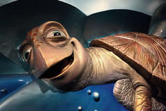 Turtle Talk With Crush (Sam Howzit) Tags: epcot epcotcenter theseaswithnemoandfriends livingseas seabasealpha turtletalkwithcrush findingnemo pixar