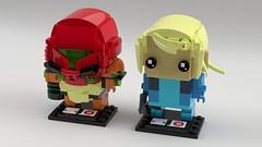 [LDD] BrickHeadz Metroid: Samus Varia Suit/Zero Suit (L-DI-EGO) Tags: lego metroid samus varia zero suit nintendo brickheadz