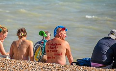 Against the Tide (Le monde d'aujourd'hui) Tags: conciousness conciousnessrising wnbr worldnakedbikeride brighton england soclal naked bike ride neach sea tide againstthetide windofchange revolution hope 2017 generation bodypaint red blue rinse protest httpswwwyoutubecomwatchvn4rjjkxsamq peace war change future