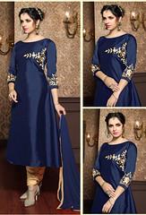 Blue Taffeta Silk Salwar Kameez (nikvikonline) Tags: blue bluesalwar bluekameez salwarkameez designerwear kamiz kamizonline womenfashion womenclothing womenswear women weddingdress wedding weddingwear wear dress dresses