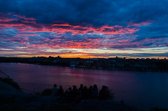 Fiery Sunset over Stockholm (tharidufernando) Tags: sunset clouds stockholm red lake reflection fiery