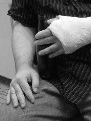 Accident Lawyer Providence (Personal Injury Lawyer Providence) Tags: cast break broken broke wrist hand arm fracture male rest accident careless immobilise immobilize black white personal injury lawyer providence