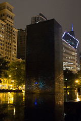 monolith (floating_stump) Tags: chicago illinois milenniumpark crownfountain night improvisedtripod rebelt5i