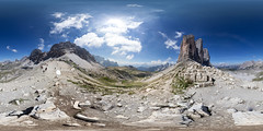 360 Panorama at Tre Cime di Lavaredo, Dolomites, Italy (Sitoo) Tags: 360degree 360panorama 360photography 360degreeview 360x180 dolomitas dolomites dolomiti italia italy threepeaks trecime trecimedilavaredo beautyinnature blue equirectangular explore hike mountain mountainpeaks mountainrange mountaineering nature panorama peaks rocks senderismo spherical travel trekking