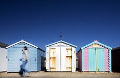 26/52 (2017): Beach hut walk. (Sean Hartwell Photography) Tags: week262017 52weeksthe2017edition weekstartingsundayjune252017 felixstowe suffolk england uk british seaside beach beachhut summer walking movement motion colous colour coast