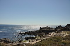 Castro de Baroña. Playa. Galicia (adribouzada) Tags: galicia azul mar baroña celta