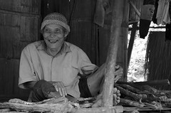 Grandpa (ellikalei) Tags: village grandpa grandfather old aged thailand karen