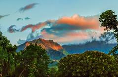 A land called Honali (docoverachiever) Tags: kauai landscape sunset nature digitalart mountains hss hanalei northshore hawaii scenery clouds