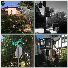 Storybook Neighborhood (melystu) Tags: oakland citybeautiful houses storybook history charm historic streetnames neighborhood ca tudor spanish signs corner trees landscape urban residential mosaic grouping examples stucco wood tile 1920s ivanhoe shadow frame