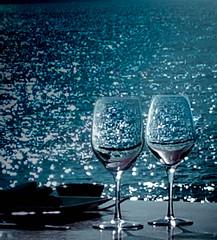 Wine With  View (Lindsay Feldner) Tags: mexico puertovallarta seaside beach wine oceanview ocean blue water sea