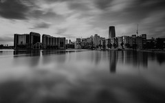 Millwall Dock (darrenjames.photography) Tags: reflection nikon darrenjamesphotography longexposure blackandwhite docklands canarywharf millwall