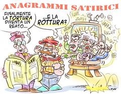 """Anagramma Satirico (Moise-Creativo Galattico) Tags: editoriali moise moiseditoriali """"editorialiafumetti"""" giornalismo attualità satira vignette tortura rottura"""