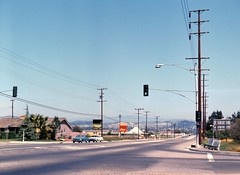 17th St at Prospect Ave., Tustin, April 1966 (Orange County Archives) Tags: orangecountyarchives orangecounty orangecountyhistory history historical california southerncalifornia tustin peacockcrest tustinestates tracts billboards