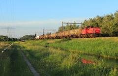 DB Cargo 6412 @ Herfte Aansluiting (Sicco Dierdorp) Tags: db dbc cargo herfte aansluiting meppel onnen kijfhoek serie6400 ketelwagen keteltrein