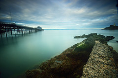Pier long exposure (neath stan the man) Tags: seascapes gowerphotography mumbles swansea wfc wales nikon d7000 wideangle 1020sigma