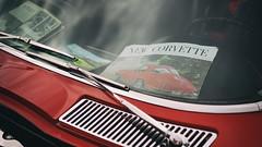 """New Corvette"" (Eric Flexyourhead) Tags: northvancouver canada britishcolumbia bc waterfrontpark bccorvetteclub bccorvetteclubshowandshine 2017 car american detail fragment chevrolet corvette chevroletcorvette c2 1963 1963corvette splitwindowcorvette red window windshield dashboard brochure 169 sonyalphaa7 zeisssonnartfe55mmf18za zeiss 55mmf18"