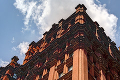 NYC - the Potter Building, Nassau/Beekman Corner (David Pirmann) Tags: nyc newyorkcity potterbuilding parkrow nassaustreet sky clouds architecture landmark beekmanstreet