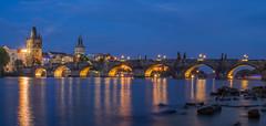 Karlův most (sergei.ribant) Tags: karlůvmost karlsbrücke water czech panorama d7100 moldau brücke landscape langzeitbelichtung longexposure citylights night nacht prag prague